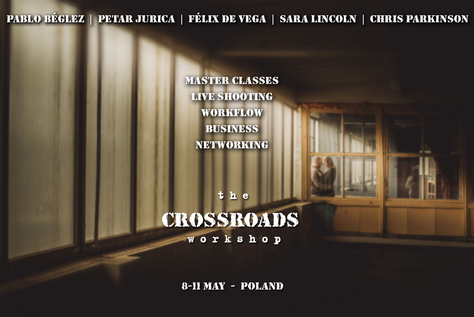 Wedding photography workshop Poland crossroads
